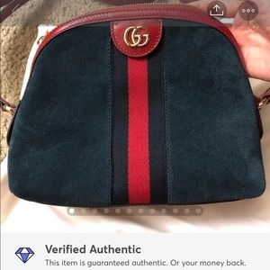 Authentic Gucci Suede leather crossbody bag/NEW!!!